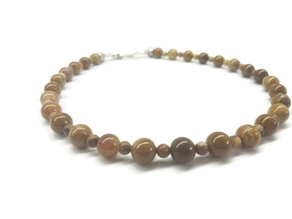 Picture Jasper Princess Choker Necklace - Ameli Jewellery Studio