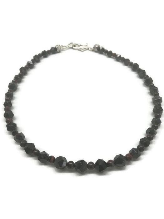 Faceted Garnet Princess Choker Necklace - Ameli Jewellery Studio
