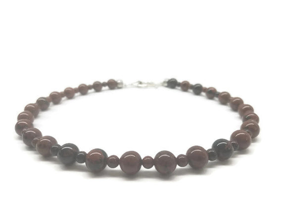 Mahogany  Obsidian Princess Choker Necklace - Ameli Jewellery Studio