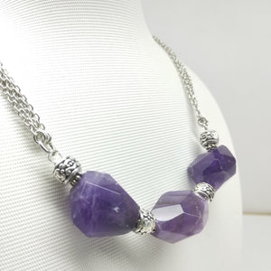 Faceted Amethyst Matinee Necklace - Ameli Jewellery Studio
