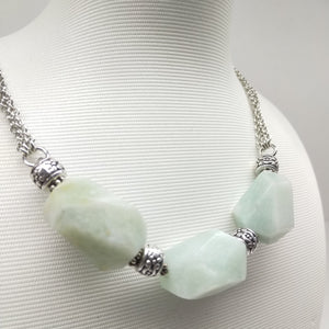 Faceted Amazonite Matinee Necklace - Ameli Jewellery Studio