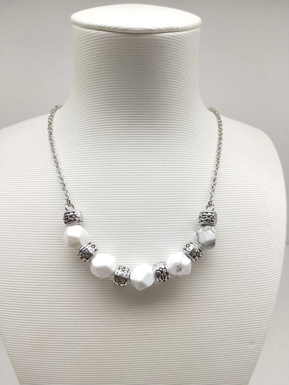 Howlite Half Moon Necklace - Ameli Jewellery Studio