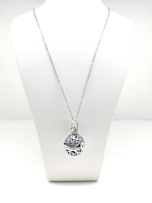 Aromatherapy Ball Diffuser Long Necklace (Bubble Swirl) - Ameli Jewellery Studio