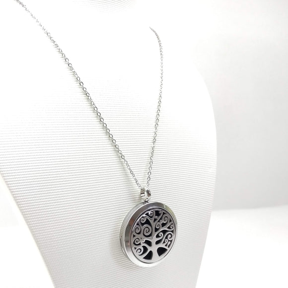 Tree of Life - Aromatherapy Locket Diffuser Long Necklace - Ameli Jewellery Studio