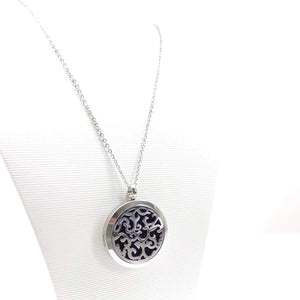 Waves - Aromatherapy Locket Diffuser Long Necklace - Ameli Jewellery Studio