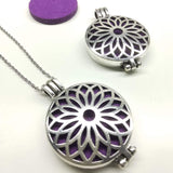 Sunflower - Aromatherapy Locket Diffuser Long Necklace