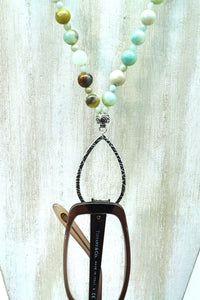 Amazonite Eyeglass Harmony Necklace - Ameli Jewellery Studio