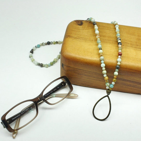 Amazonite Eyeglass Harmony Necklace - Bronze - Ameli Jewellery Studio