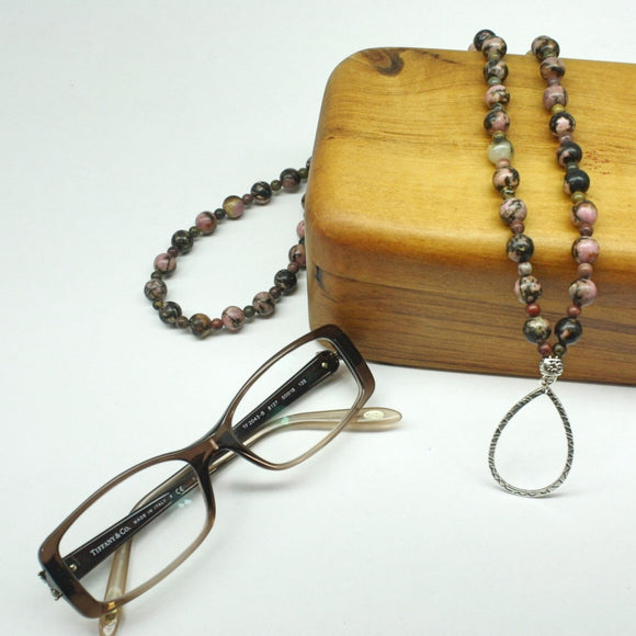 Rhodonite Eyeglass Love Necklace - Ameli Jewellery Studio