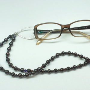 Garnet and Jasper Eyeglass Energy Necklace - Ameli Jewellery Studio