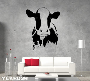 Cow Decal - cow vinyl sticker- cow head Decal- agriculture decal- Cow Wall Sticker- Cow Wall Decor- Wall Art Cow- Cow Vinyl Decor