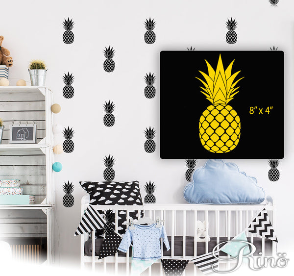 Pineapple wall decal, Pineapple vinyl sticker, Pineapple vinyl decals, Pineapple wall art, Pineapple wall stickers, exotic decor sticker