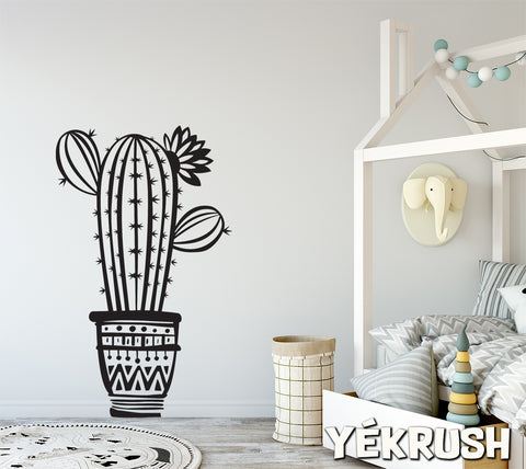 Cactus wall decal, Cactus vinyl sticker, Cactus vinyl decals, cactus wall art, Saguaro wall stickers, Desert decor, Western vinyl stickers