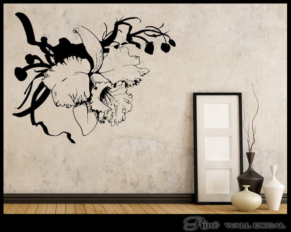 Flower Decal - Wall art Flowers vinyl sticker - Flower decor - wall corner decal