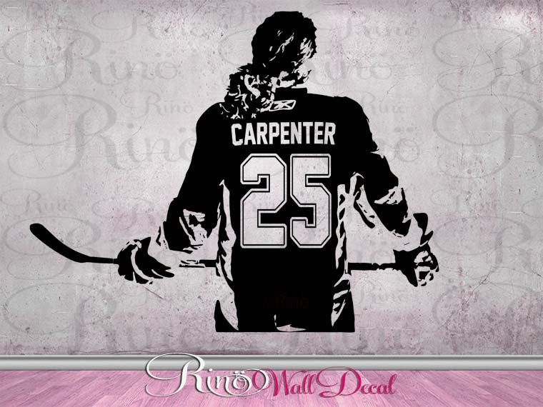 Hockey Girls Decal Wall art Custom Women - Girls ice Hockey Player choose jersey name & numbers hockey wall Decal sticker mom bedroom decor
