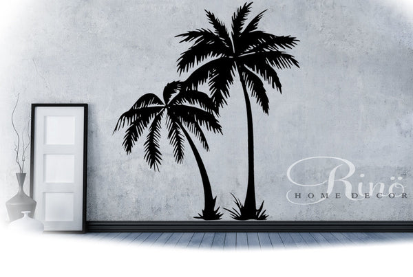 Palm Tree DECAL Wall art Palmtree vinyl Wall stickers No background large size coconut tree beach oasis south home decor living room bedroom