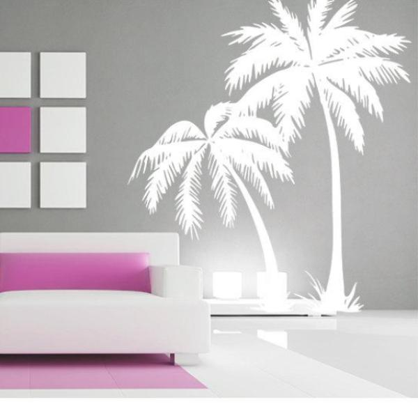 Palm Tree DECAL Wall Art Palmtree Vinyl Wall Stickers No Background Large  Size Coconut Tree Beach ...