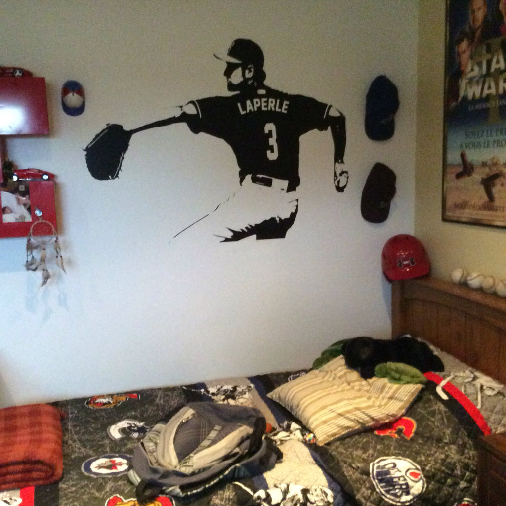 ... Baseball Wall Decal   Wall Art CUSTOM NAME Jersey Numbers   Baseball  Bedroom Decor   Baseball ...