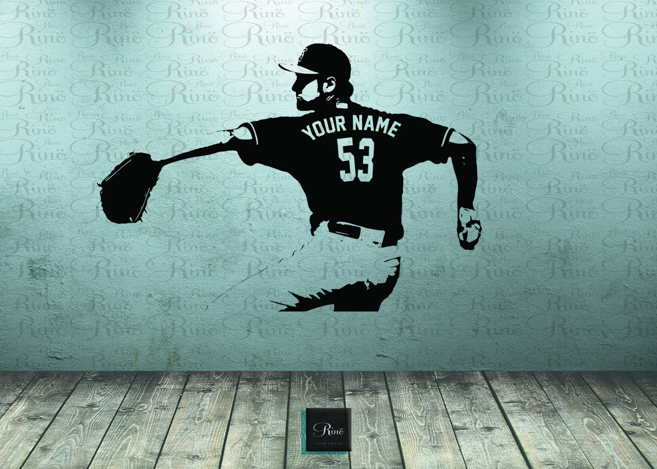baseball kids bedroom - baseball wall art - baseball wall decal - pitcher vinyl sticker