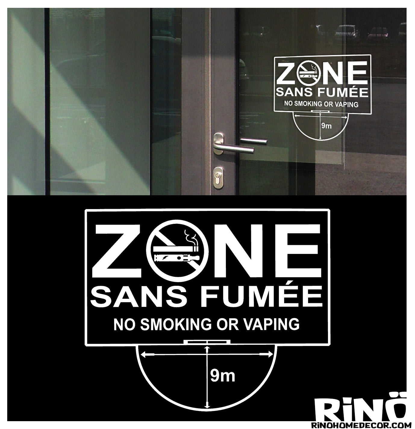 zone sans fumée no smoking or vaping smoke free zone