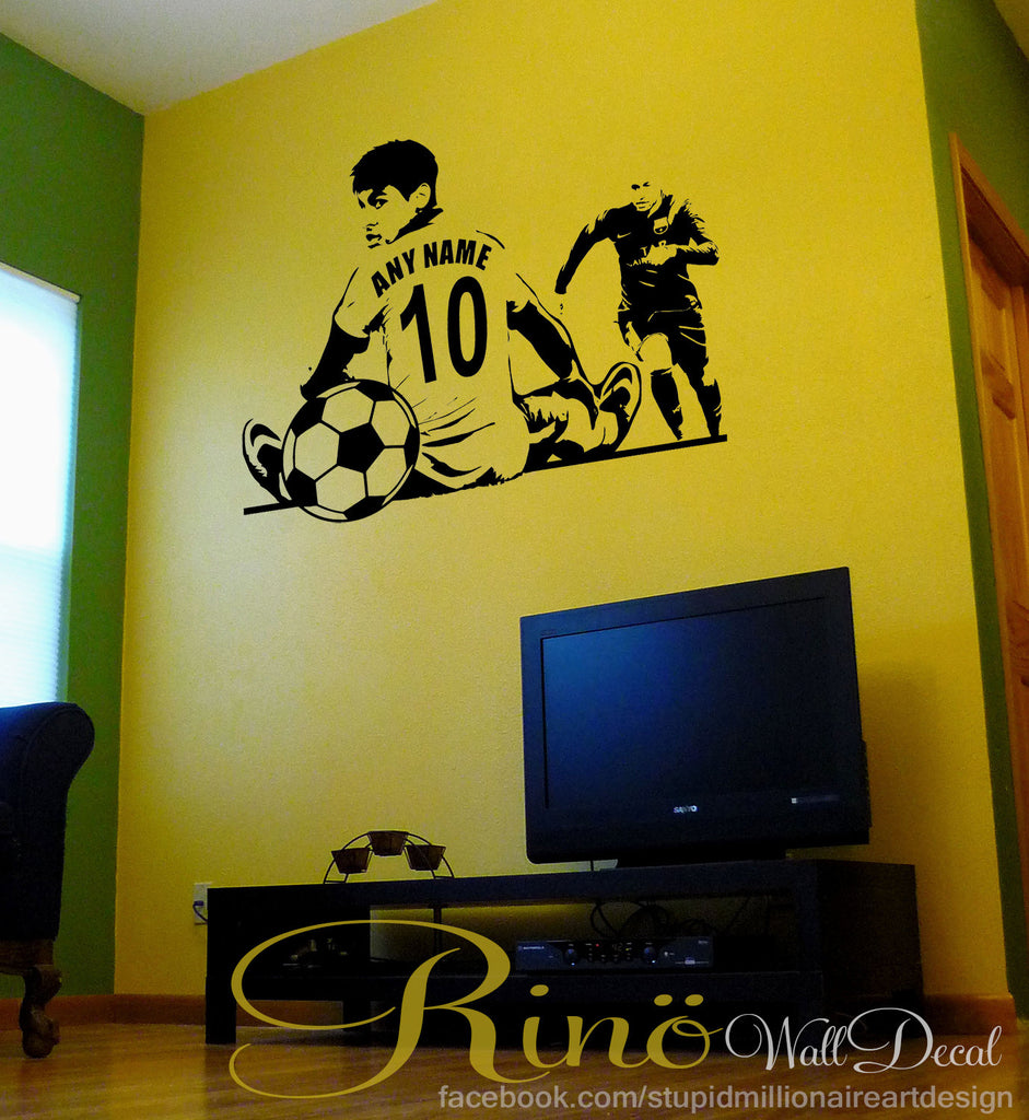 Soccer Wall Decal - Soccer Custom Decal - Soccer Name Decal - Soccer ...
