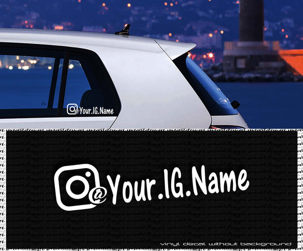 Instagram Custom Text decal