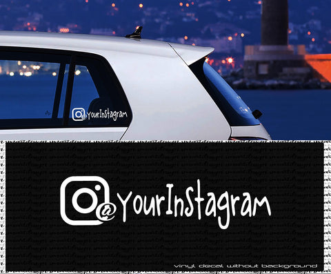 Custom Decal - INSTAGRAM - personalized Text vinyl sticker- wall decal - car window - laptop