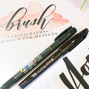 Modern Brush Calligraphy Practice Guide Book