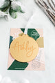 Handlettered Single Name Mirrored Acrylic Holiday Ornament