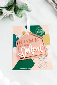 Home is Where Mom is Acrylic Holiday Ornament