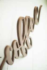 "Laser Cut Coffee Sign. Made with Raw Birch Wood. 1/8"" Thickness. 12""length x 4""height."