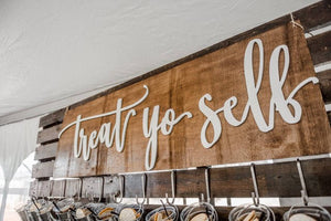 Treat Yo Self Handlettered Sign | Donut Wall Not Included