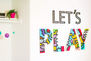 Home Decor | Laser Cut LETS PLAY Play Room Decor