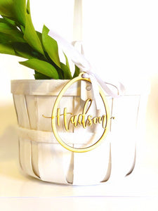 Handlettered Customized Gift | Floral Accessory