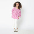 Pretty Pink Gingham Blouse