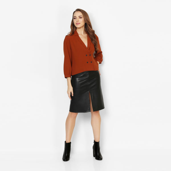 Cropped Out Rust Top