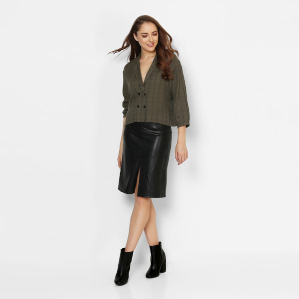 Cropped Out Olive Top