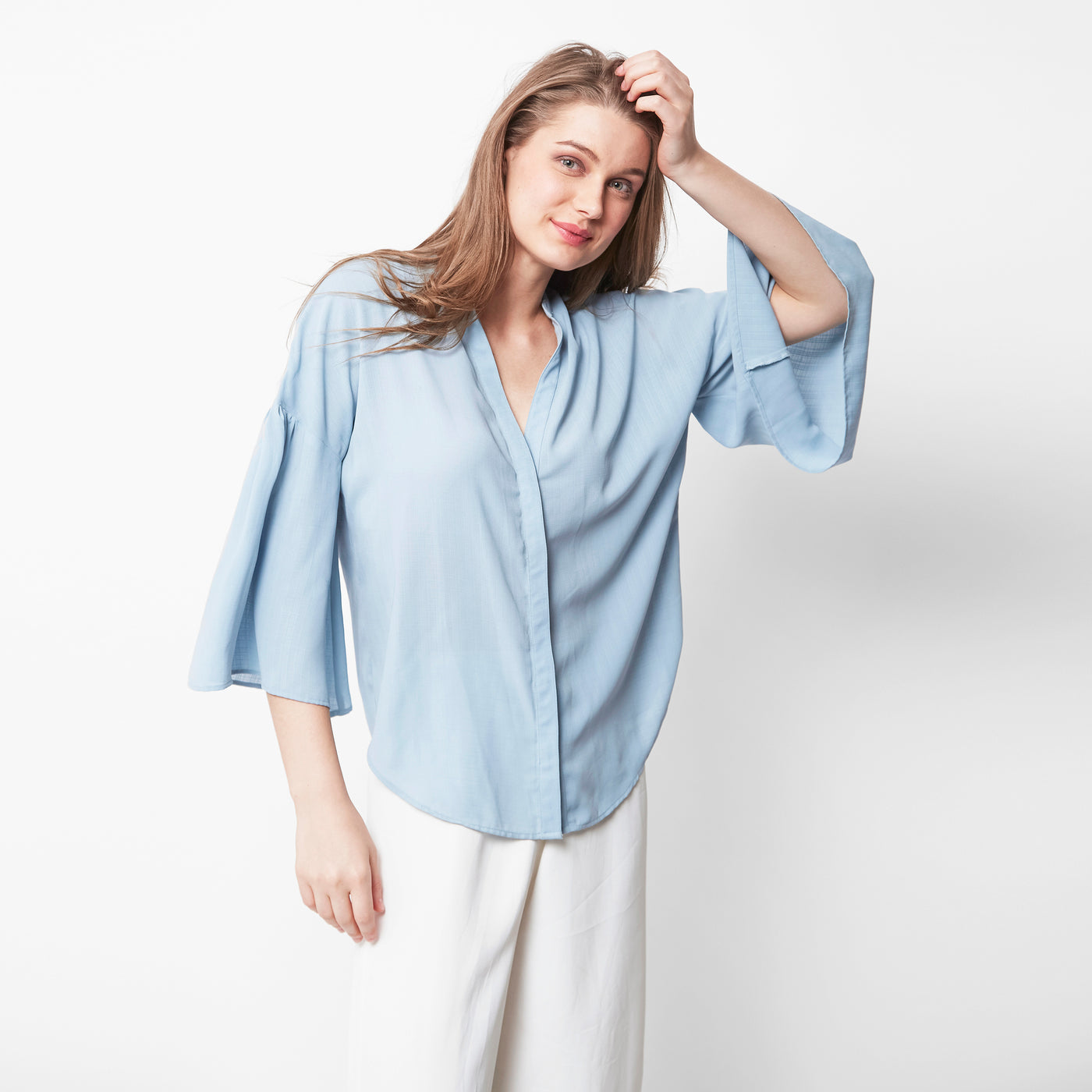 Hustle Hour Solid Blouse