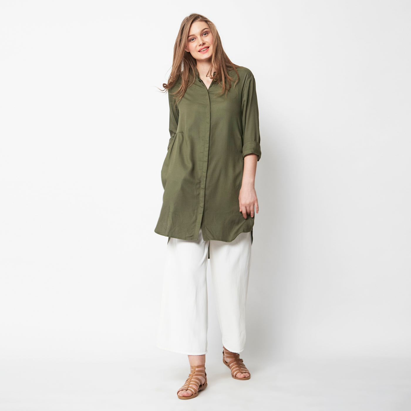 Keep-It-Simple Solid Tunic