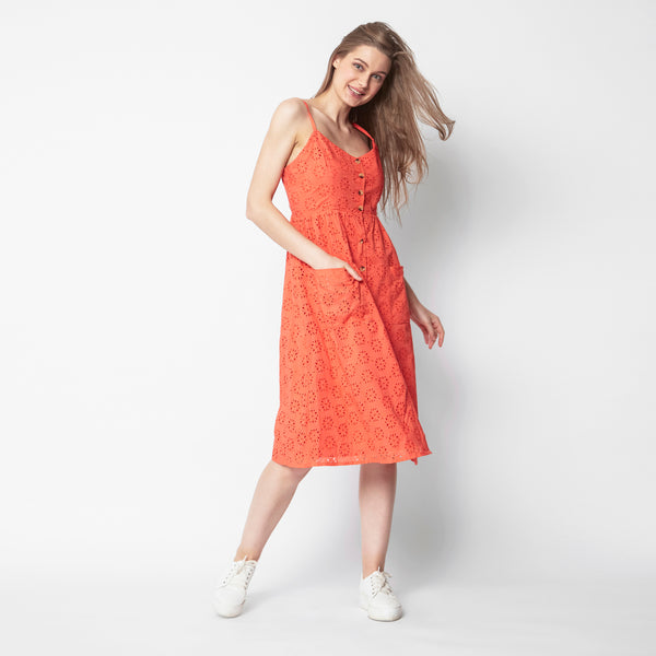 Tangerine Slip On Sundress