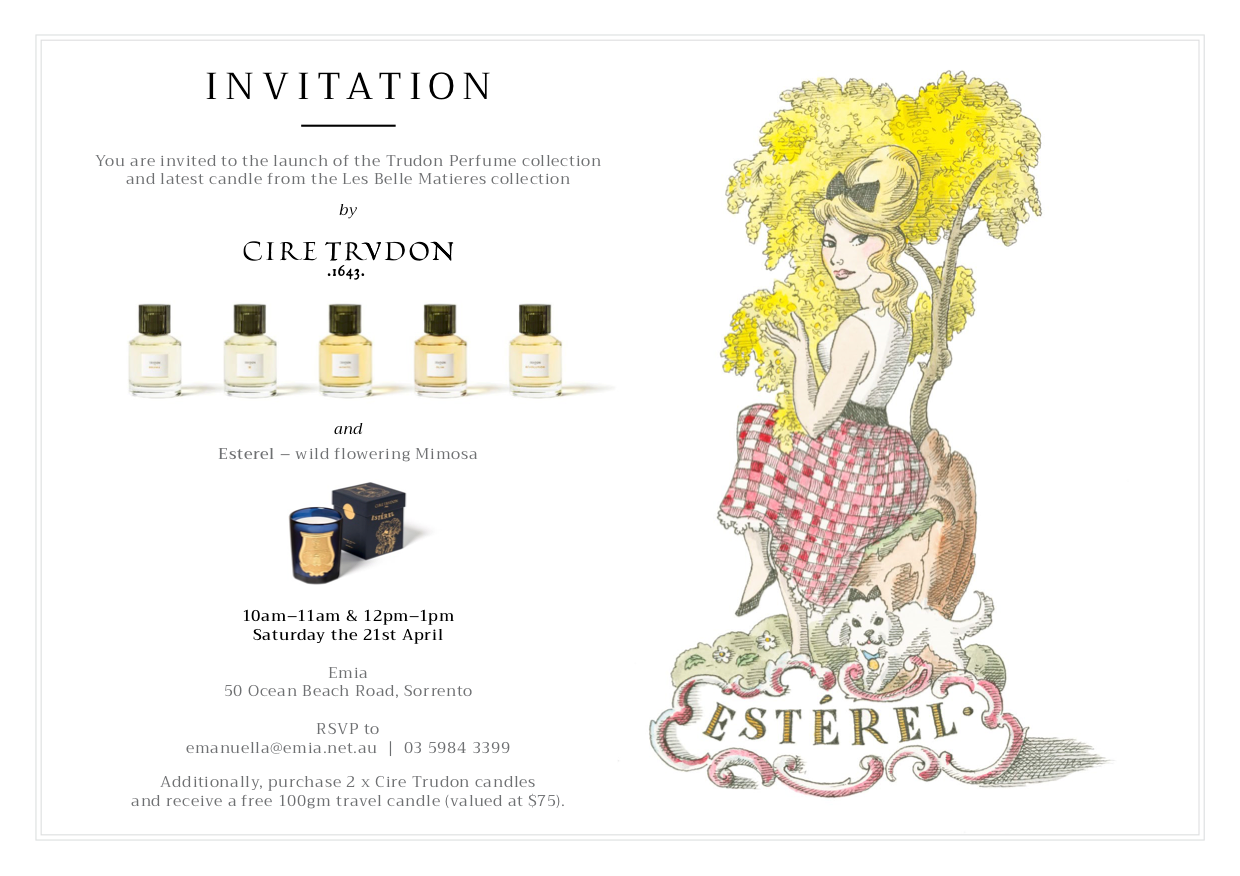 launch of the Trudon Perfume collection