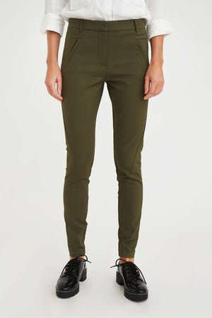 ANGELIE - FULL LENGTH PANT - ARMY - FIVE UNITS