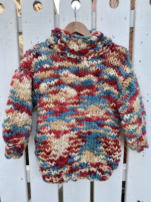 RAINBOW SWEATER - BLUE & RED - FIRST BORN
