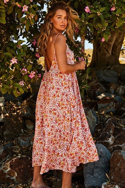 LOW BACK MAXI DRESS - DREAMSCAPE - BOHEMIAN TRADERS