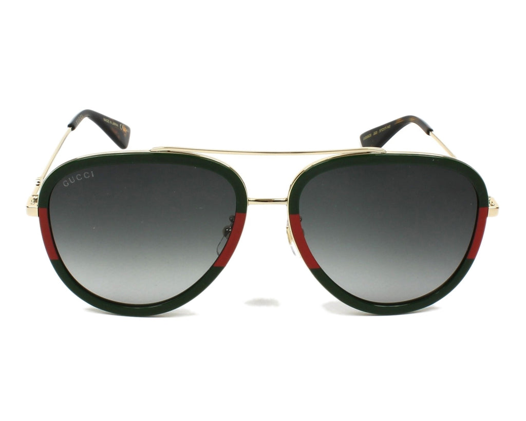0062S003 AVIATOR GOLD GOLD / GREEN LENS - GUCCI