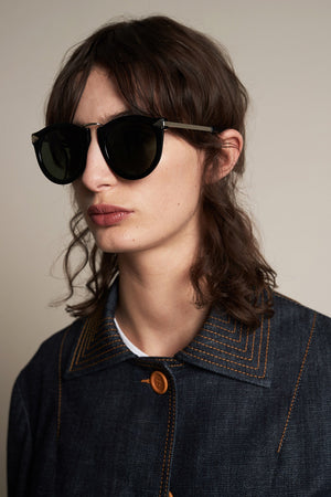 HARVEST SUNGLASSES - BLACK - KAREN WALKER