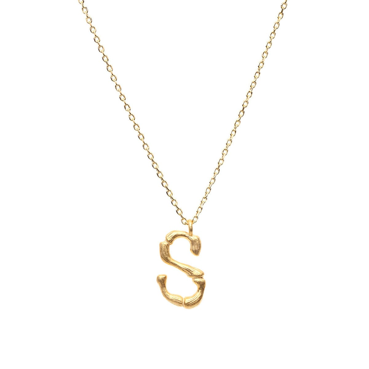 LETTER NECKLACE  24K GOLD PLATED