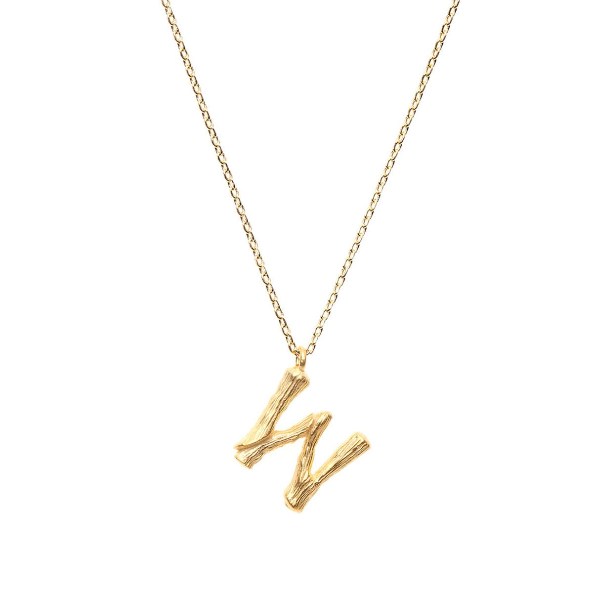 LETTER NECKLACE  24K GOLD PLATED - AMBER SCEATS