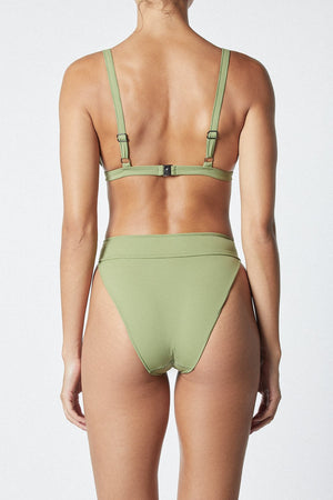 THE CONTOUR BIKINI PANT - OLIVE - IT'S NOW COOL
