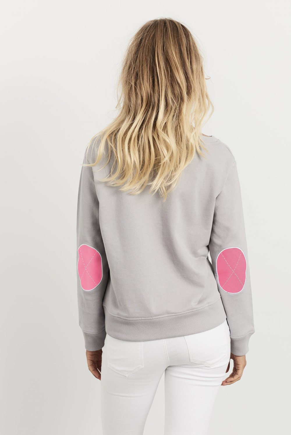 CLASSIC COTTON WINDY - FRENCH GREY & HOT PINK PATCHES - EST 1971